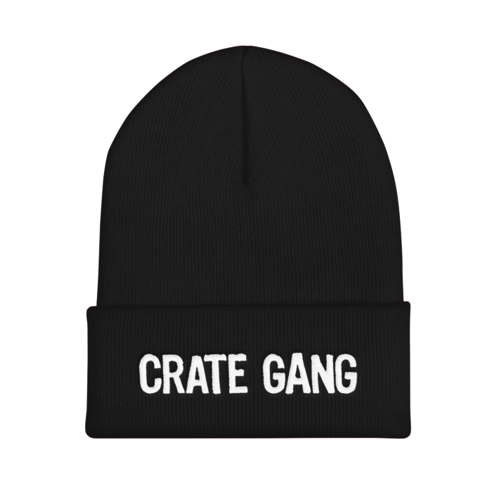 Crate Gang Logo Embroidered Cuffed Beanie