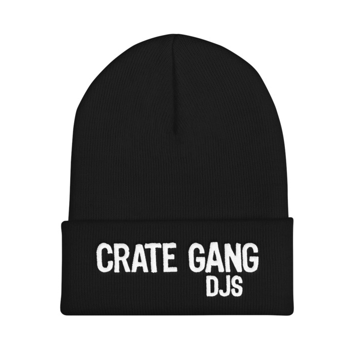 Crate Gang DJs Embroidered Cuffed Beanie