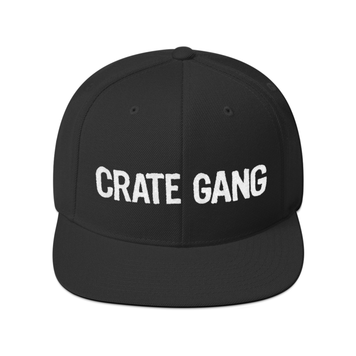 Crate Gang Logo Embroidered Snapback Cap