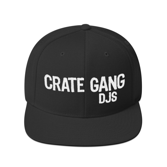 Crate Gang DJs Embroidered Snapback Cap